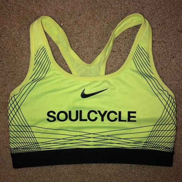 76fc9a5771 Nike Soulcycle Neon Green Sports Bra Mesh Back. M 5c75d7e7c2e9fe60b11506f9